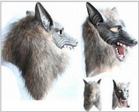 animal head fancy dress - Manufactor Goods In Stock Halloween Terror Devil Fancy Dress Ball Prop Mask Full Set Of Head Wolf Headgear