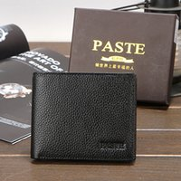 beautiful note cards - Men s Genuine Leather Wallet Purse Short Casual Male Card Holder Fashion Brand New Beautiful HuiLin KY63
