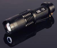 Wholesale UltraFire Lumen CREE XML XM L T6 LED Portable Zoomable Adjustable Focus battery Flashlight Torch Lamp Light SK88 BLACK