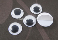 Wholesale mm white and Black plastic eyes doll eyes with self adhesive DIY Dolls Accessories1001124000