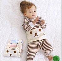 Wholesale 2pcs set Cotton Spring Autumn Baby Boy Girl Clothing Sets Newborn Clothes Set For Babies Boy Clothes Suit Shirt Pants Infant Set