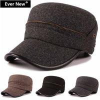 Wholesale ashion Design Zipper Flat Cap Military Hat Men Military Cap Bone Militar Masculino Hat Army Hat Army Cap Adjustable Hot Sales