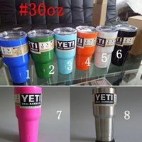 Wholesale 10oz oz oz oz YETI cup Rambler Stainless Steel Yeti Cups Bilayer Pink Color Insulation Mug Keep Drink Cold Mug Beer yeti Cup drinkware