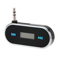 Wholesale Portable Mini Wireless mm Car Audio Radio LED Dispaly FM Transmitter Modulator Adapter for iPhone iPad iPod Samsung