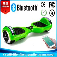 Wholesale LED smart hoverboard bluetooth wheels bluetoooth Scooter Smart HoverBoard Super power app remote Unicycle Two Wheels Scooter fast shipping