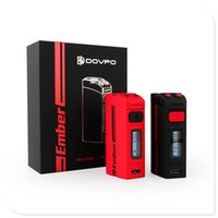 Wholesale Authentic DOVPO Ember W New Arrival High Watts Mini body mAh Built In Micro USB Charging Temperature Control box mod DHL Free