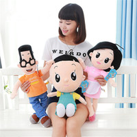 Wholesale TV Movie Character Plush Toy Cute Cartoon Doll Birthday Gift Three Family Members Dolls cm cm cm