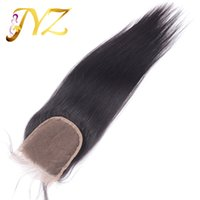 Wholesale Hot sall Lace Top Closure cheap Unprocessed A Brazilian Virgin Human Hair Weaves Straight Bleached Remy Hair Dyeable
