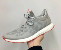 ad flat - Hot High Street Fashion Solebox x AD Consortium Ultra Boost Uncaged Running Shoes Mens womens Sneakers Best Quality