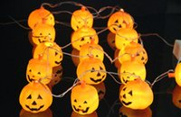 Wholesale Halloween Light LED m Home Bar Party Decoration Pumpkin Colorful LED String Light Fairy lights Festival Lamp Skeleton lantern lamp
