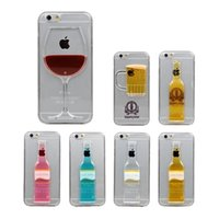 aqua cases - Red Wine Phone Case Cocktail Cases Flowing Liquid Water Aqua Movable Dynamic Hard For iPhone s s plus