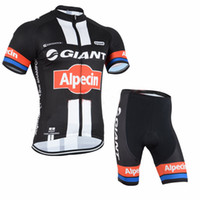 bicycle giants - GIANT Alpecin PRO TEAM BLACK RED Short Sleeve Cycling Jersey Set Summer Bike Bicycle Wear Non bib Shorts with Paded