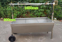 Wholesale length is mm stainless steel auto charcoal BBQ roasted whole lamb stove motor charcoal bbq barbecue grill outdoor bbq can take kg meat