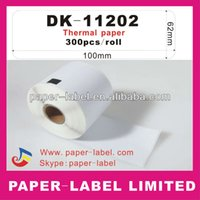 Wholesale x Roll Brother Compatible dk dk11202 Labels Per Roll thermal adhesive sticker Shipping label promotion