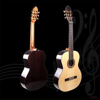 best classical strings - 39 inch Splint Acoustic Guitars Best Spruce Wood Semi closed Knob Strings Hollow Travel Guitars for Adults Children