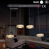 Wholesale High Quality LED Crystal Chandelier Lighting Fixture Modern Suspension Lamp Bedroom Dining Room LED Light Lamp Stainless Steel