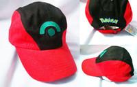 ash pokemon snapback - Anime Cospaly Hat Poke mon ASH KETCHUM Visor Cap Costume Play Baseball Hats Pocket Monster Pikachu Ash hat snapback baseball Caps