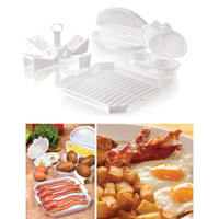 bacon tray - 4 PC Microwave Starter Set Eggs Bacon Potatoes Baker Tray Microweavable Cooker