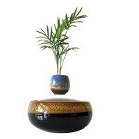 Wholesale 2016 Japan High tech Magnetic Levitation Air Bonsai Tree Floating Ceramic Pots Christmas Gifts No Plant D