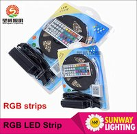 waterproof led strip - 5050 RGB LED Strips Lights SMD LED LED M Flexible LED light roll Waterproof IP65 with keys Controller V A power supply