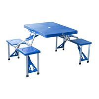 Wholesale Outdoor Folding Plastic Picnic Table Garden Party Camping Time With Seats