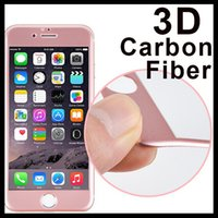 Wholesale Carbon Fiber Premium Tempered Glass For iPhone PLUS plus Screen Protector Full Cover D Curved Glass H