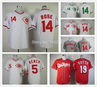 authentic black rose jersey - 2015 Fashion New Cincinnati Reds jersey Stitched Pete Rose Jersey authentic Joey Votto jersey cheap Johnny Bench jerseys