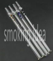 Wholesale straw pipe Nectar collector NC kits oil glass tips made of borosilicate glass mixed colors