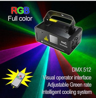 Wholesale Remote DMX mW RGB Laser Stage Lighting Scanner DJ Dance Xmas Show Blue Light LED Effect Projector Fantastic Disco item