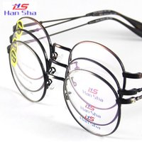 optical frame - Women Glasses Eyewear Eyeglasses Metal Alloyed Round Full Rim Frame Spectacles Read Fashion Optical Glasses RX Point Reading Shade