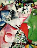 art painting chagall - I AND THE VILLAGE by MARC CHAGALL Pure Handicrafts FABULOUS Art oil painting On High Quality Canvas any customized size Available