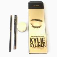 Wholesale Kylie Cosmetics Kylie eyeliner Kyliner Birthday Edition In Brown AND Black Kyliner Kit Birthday Edition Dark Bronze Set