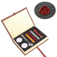 Wholesale Wax Seal Stamp Kit Vintage Stamp Seal Sealing Wax Vintage Classic Old Fashioned School Badge