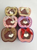 Wholesale Fancy paper gift box for chrismas eve apple shape