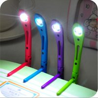 Wholesale Mini Clip on Reading Light Unique Flexible Bright LED Light Book Reading Lamp For E Book Reader LED Reading Lights Lamp