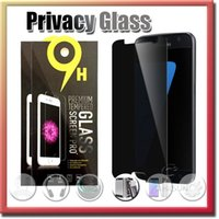 Wholesale Privacy Tempered Glass For S7 iPhone s Note Screen Protector Anti Spy Film Screen Guard Cover Shield