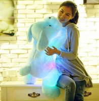 best friend stuffed animal - New Year CM Length Creative Night Light LED Lovely Dog Stuffed and Plush Toys Best Gifts for Kids and Friends