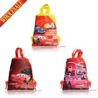 Backpacks backpacks favor bag - 12Pcs Cars Children Boys Drawstring Backpack Kids School Shopping Bags Party Gift Favor