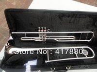 Wholesale Direct selling key tenor trombone alloy copper speaker nickel plating surfac