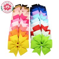 Wholesale 20pcs Newly Design Boutique Hair Bow With Clip Big Bow Hairpins Hair Clips For Baby Girls Kids Hair Accessories