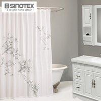 Wholesale Shower Curtain Cotton cm Metalic Printing BBB Quality New Design Bath Curtain For Bathroom Living Room
