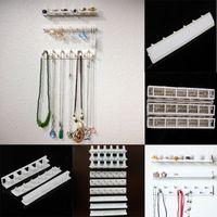 venda por atacado hangers-9pcs / set jóias colar pendente pendurar colar titular do gancho de armazenamento organizador de exposição rack ganchos pegajosos