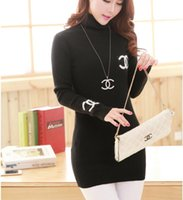Wholesale New winter high necked sweater bottoming Slim long sweater women sweater