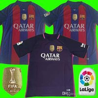 barcelona player - Player version Thailand quality Barcelona jersey patch soccer Shirts SUAREZ MESSI NEYMAR JR football jersey