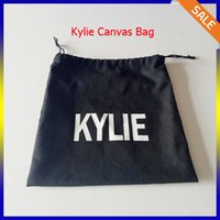 Wholesale Kylie Canvas bag kylie lip kit Cosmetics Canvas makeup bags Birthday Collection Bundle Bronze Kyliner Copper Creme Shadow Makeup Bag DHL