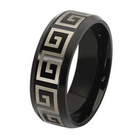 african wall - ORSA New Arrival Titanium Steel Great Wall Design Rings for Men Punk Fashion Jewelry Ring OTR51