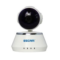 ESCAM Secure Dog QF510 HD 720P 1.0MP Pan / Tilt WIFI Onvif P2P alarme intérieur Dôme infrarouge IP Camera Support Détection de mouvement