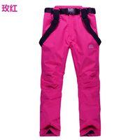 Wholesale women ski pants windproof waterproof strap pants outdoor Breathable ski pants