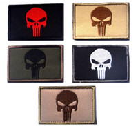 attack military - VP inch D Embroidered patch Punisher with magic tape Skull patch Tactical Isaf Attack Badge Military patches outdoor badges