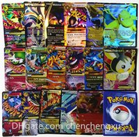 Wholesale NEW Brilliant FLASH cards Poké EX Trading English Anime toys Classic High Quality GIFT box Does rep Card Game Pocket monster